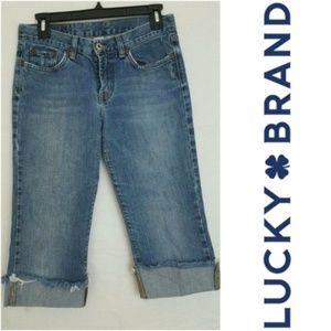 Lucky Brand Sweet N Low Jean Capris 4/27 EUC